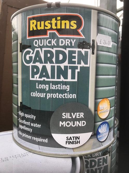 """Rustins Garden Paint """"Silver Mound"""" 2.5L"""