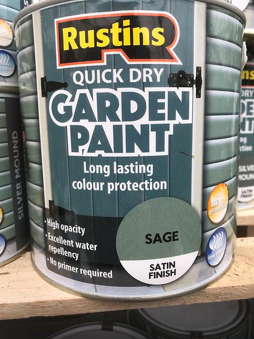 """Rustins Garden Paint """"Sage"""" 750ML"""