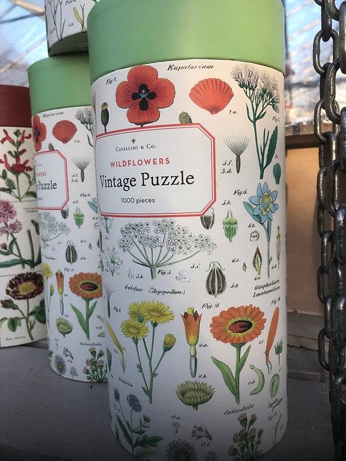 "Cavallini & Co ""Wildflowers"" Vintage Puzzle"