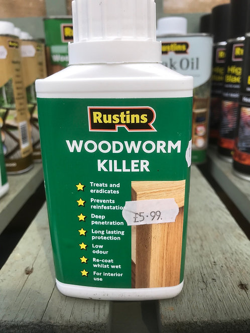 Rustins Woodworm Killer 250ML