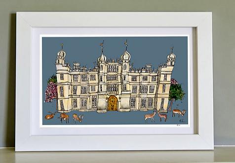 "Katie Cardew ""Burghley House"" Framed Print 16x10"""