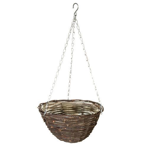 """12"""" SG Rattan Hanging Basket"""