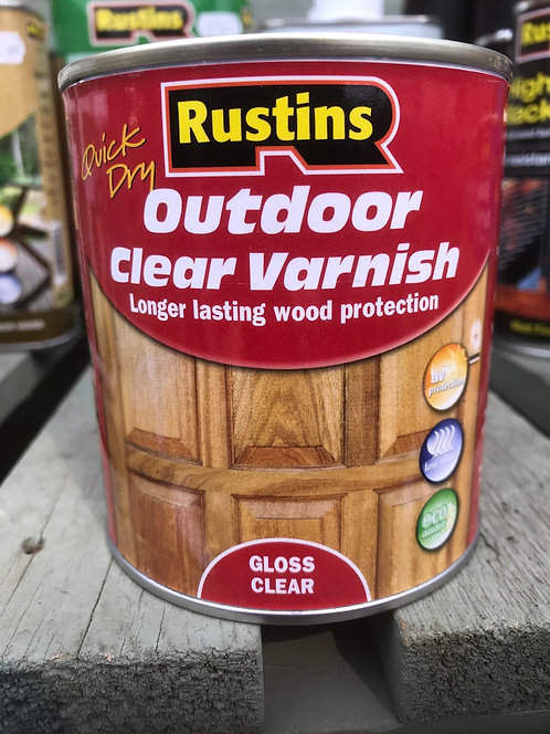 """Rustins Outdoor Varnish """"Clear"""" 500ML"""