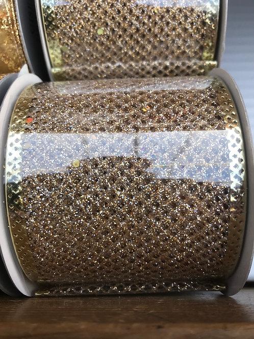 Gisela Graham Gold Ribbon 63mm x 3m