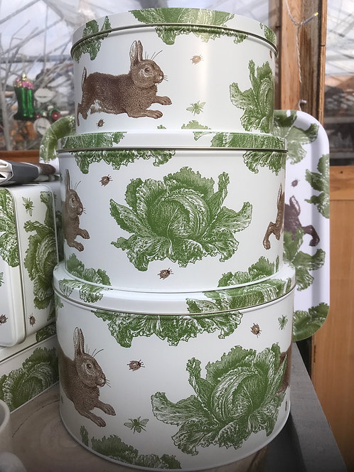 Thornback & Peel Cabbage and Rabbit Cake Tin Set (3)
