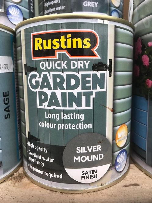 """Rustins Garden Paint """"Silver Mound"""" 750ML"""