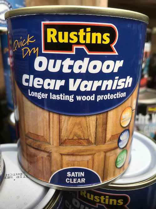 "Rustins Outdoor Varnish ""Clear"" 500ML"