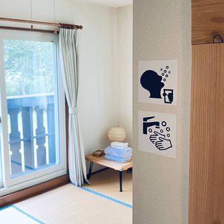 Guest room Signs everywhere.