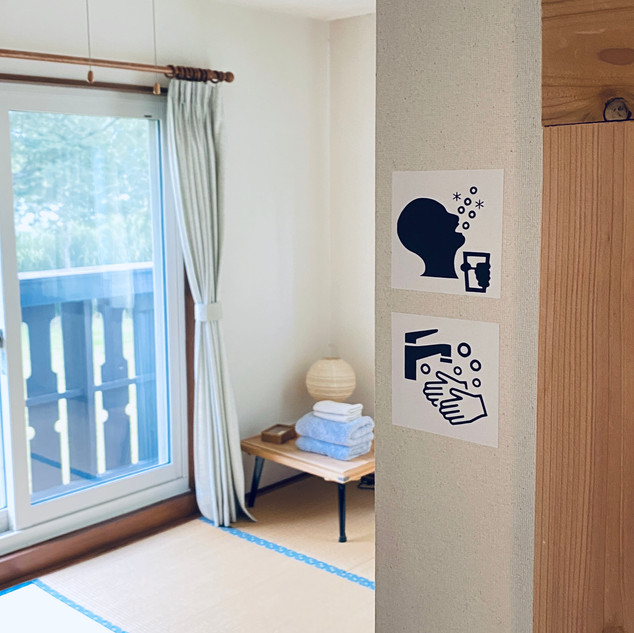Guest room Sign everywhere.