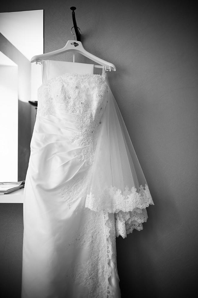 préparatifs du mariage, robe de la mariée à Clermont-Ferrand