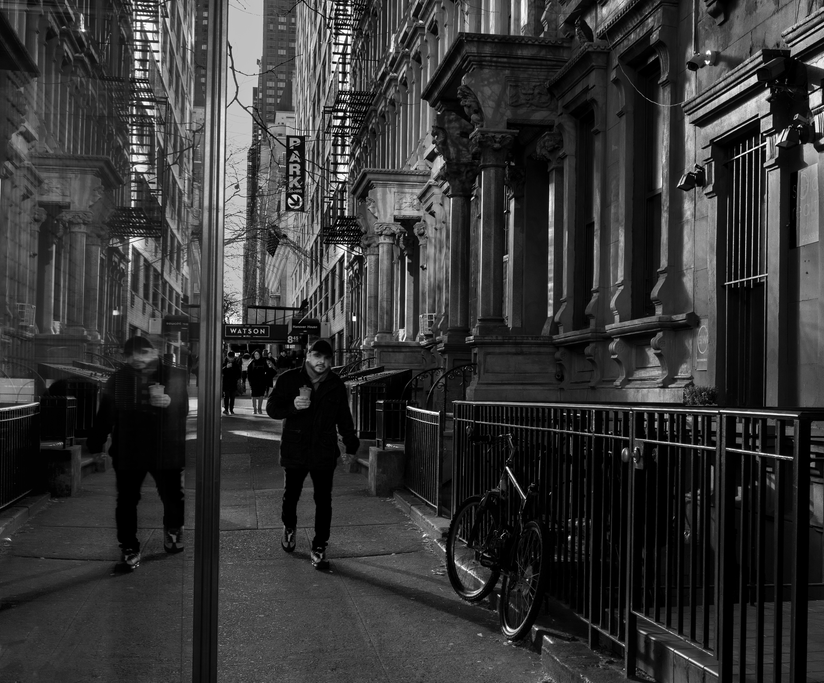 Street Reflection 57th st BW2.png