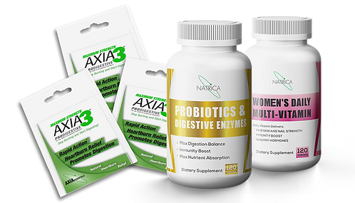 Try Axia3 For Free - plus PROBIOTICS + WOMEN'S HEALTH BONUS DEAL