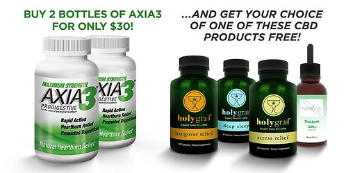 Axia3 BUY 2 FOR $30, GET FREE CBD DEAL!