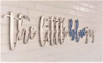 The Little Blue Jay Kids Salon Sign
