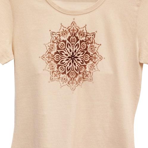 Malované tričko - MANDALA KVĚTU
