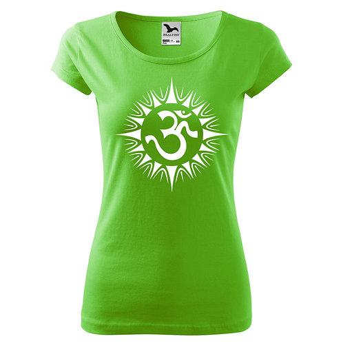 Dámské tričko ÓM - zelené jablko