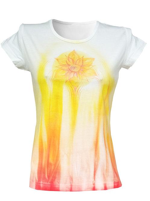 Malované tričko - KVĚT RADOSTI