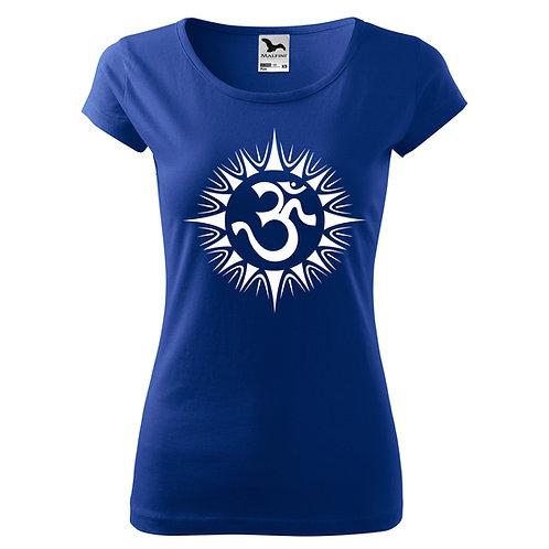 Dámské tričko ÓM - královsky modrá
