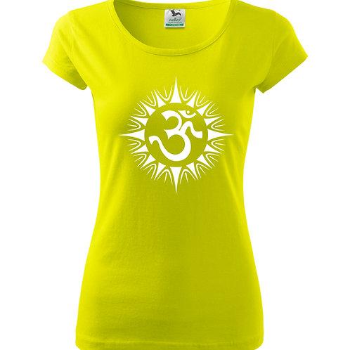 Dámské tričko ÓM - limeta