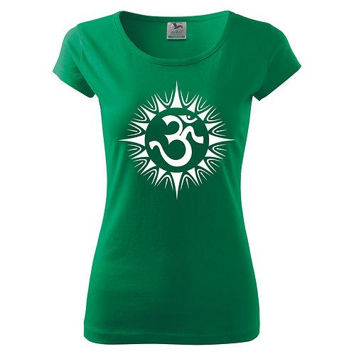 Dámské tričko ÓM - středně zelená