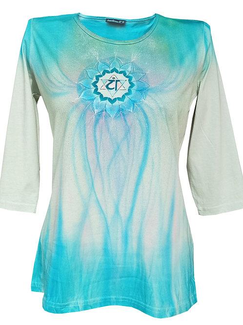 Malované tričko - SRDEČNÍ ČAKRA