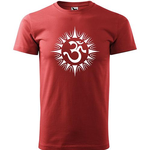 Tričko ÓM - vínově červená