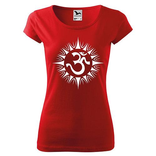 Dámské tričko ÓM - červená
