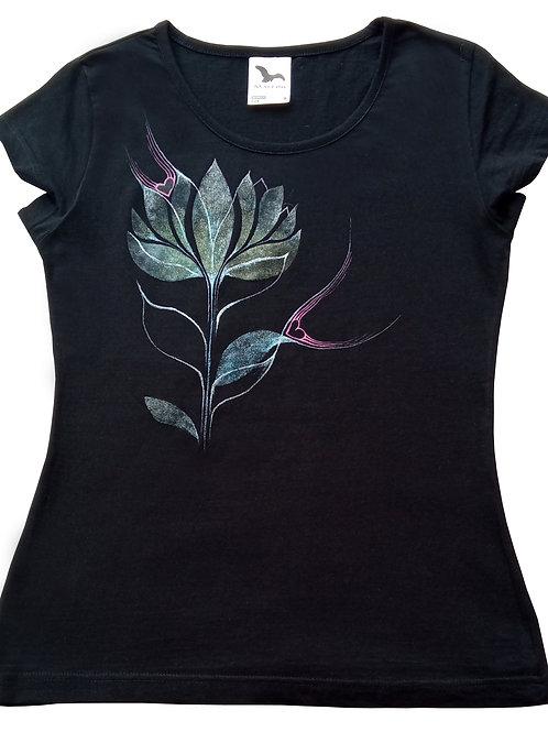 Malované tričko - KVÍTEK LÁSKY
