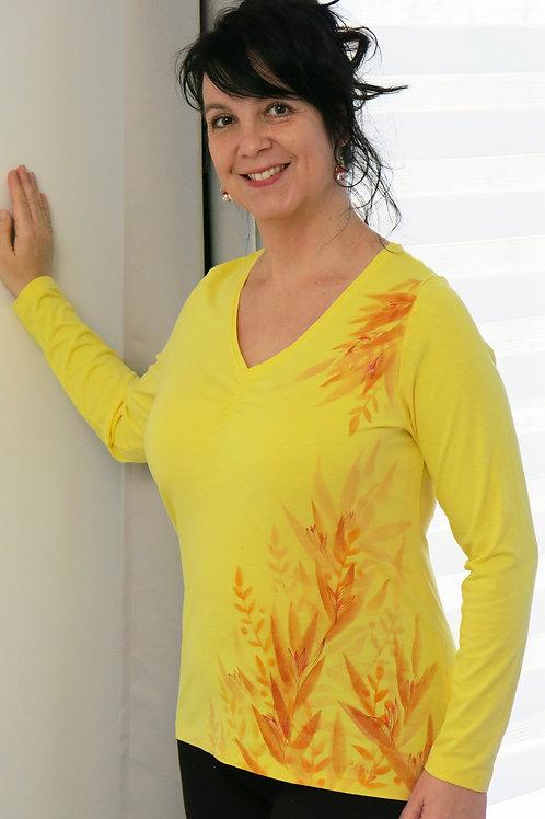 Malované tričko - LETNÍ VÁNEK