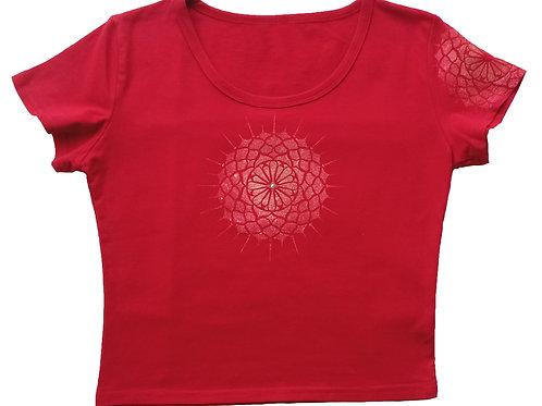 Malované tričko - MANDALA SLUNCE