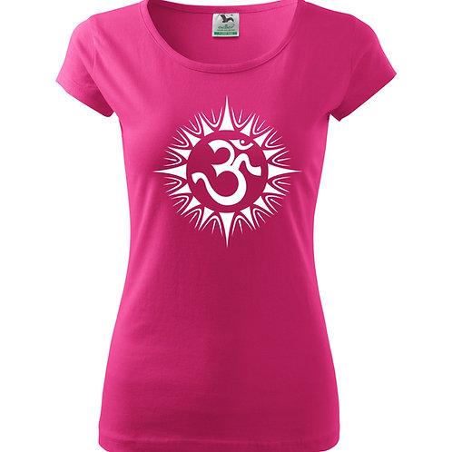 Dámské tričko ÓM - purpurová