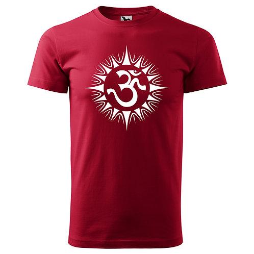 Tričko ÓM - červená marlboro