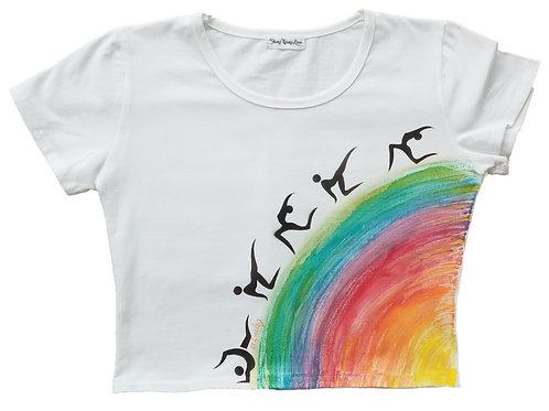 Malované tričko - KOUZLO POHYBU