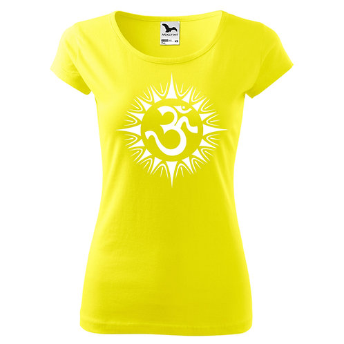 Dámské tričko ÓM - citrónová