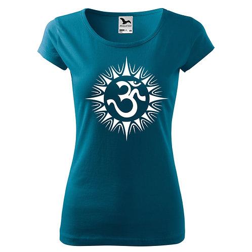 Dámské tričko ÓM - petrolejová