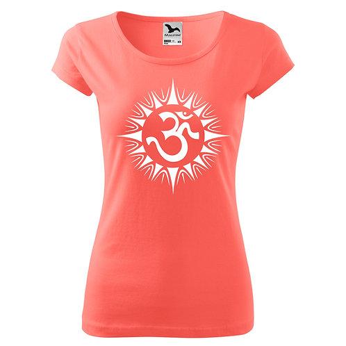 Dámské tričko ÓM - korálová