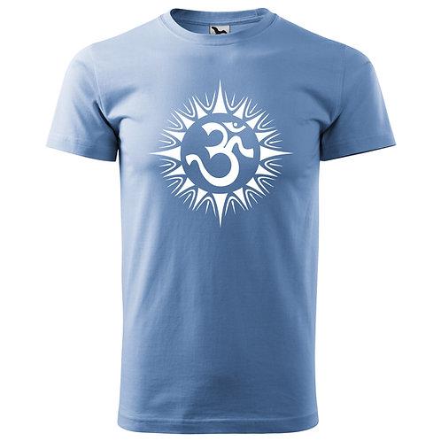 Tričko ÓM - nebesky modrá