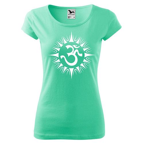 Dámské tričko ÓM - mátová