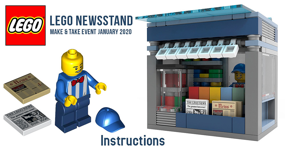 LEGO Newsstand Instructions