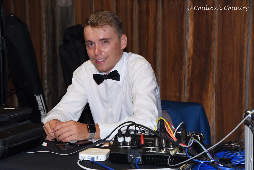 Sound technician Lucas Kummerow is a Jondaryan shire local.
