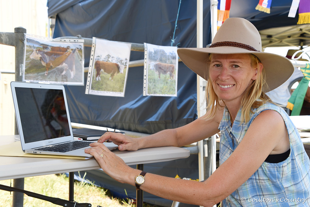 Katrina Williams, Kooranga Miniature Hereford Stud, Mutdapilly, had the technology up and running to show people the small breed she is most passionate about.