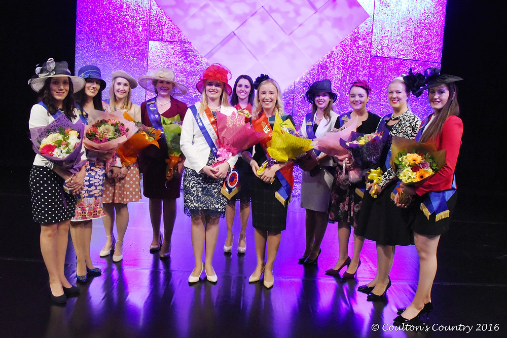 2016 Queensland Country Life Miss Showgirl Award winners and finalists