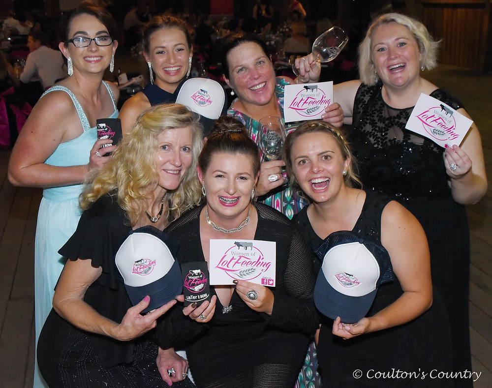 Celebrating a fantastic night were WOLF committee members Sarah Wolski, Ella Sloss, Janeta Falknau, Amanda Moohen, Marg Harrison, Georgia Sloss and Rozzie O'Reilly.