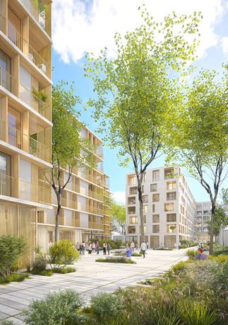 255 Logements, médiathèque et centre technique municipal - Neuilly-sur-Seine