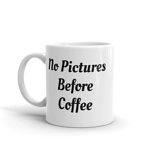 No Pictures Before Coffee - Mug v2