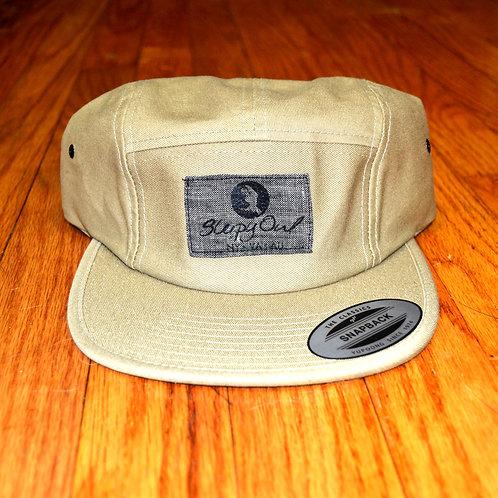 Khaki and Grey Strap Back Hat