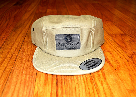 Khaki and Grey Strap Back Hat