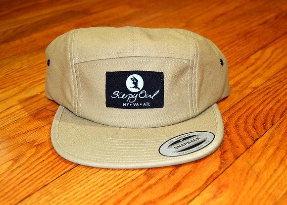 Khaki and Black Strap Back Hat