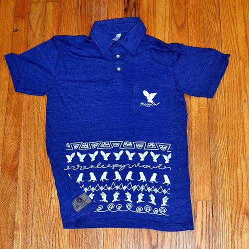 Owl Prowl S/S Leisure Shirt Indigo