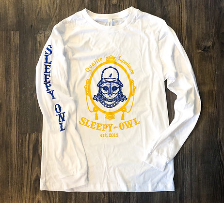 Sleepy Owl's Zig-Zag Long Sleeve Tee